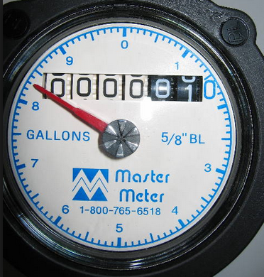 Example of Water Meter (may vary)